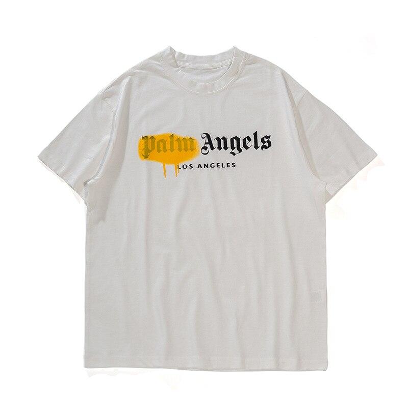 ICPANS Street Spray Paint Alphabet Print Hipster Short Sleeve T-Shirts Streetwear Hip Hop Casual Tshirts Men Summer Tops Tees