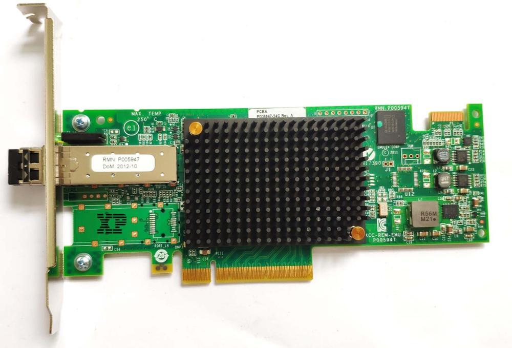Original para Emulex LPE16000 HBA Tarjeta de fibra 16G / SAN Almacenamiento de red Tarjeta de fibra de un solo puerto