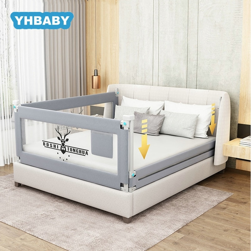 4 size blue pink color120 150 180 200cm baby bed fence guardrail baby crib guardrail bed rails bed buffer type meters general Baby Bed Fence 1.5-2.2m Bed Rail Adjustable Child Care Barrier For Beds Crib Rails Security Fencing Children Guardrail