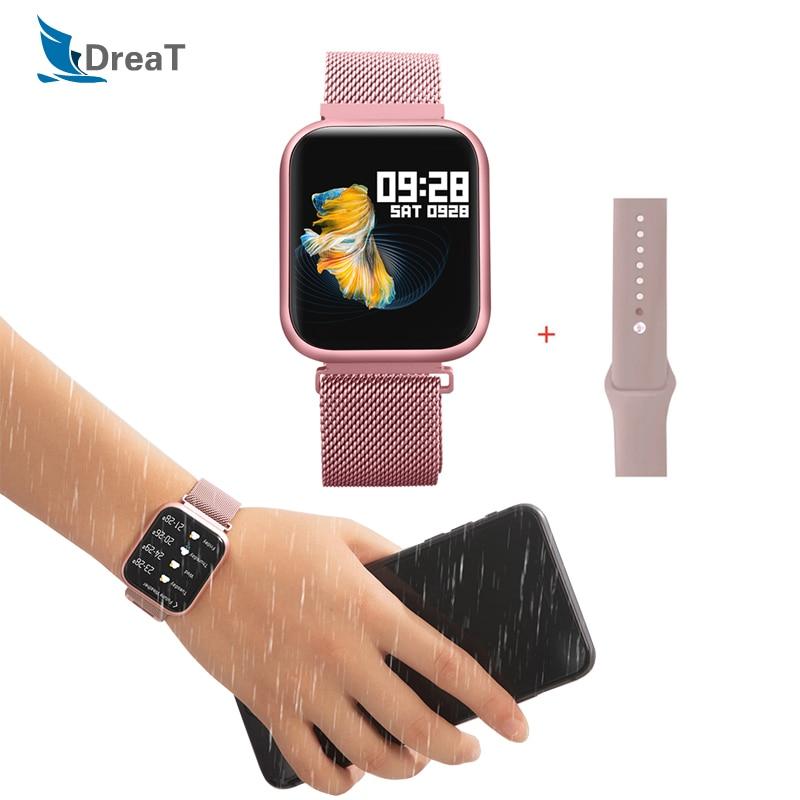 Reloj inteligente P80 para mujer, Reloj inteligente con Bluetooth, Reloj inteligente para hombre, Reloj inteligente IP68 a prueba de agua, brazalete deportivo para iphone