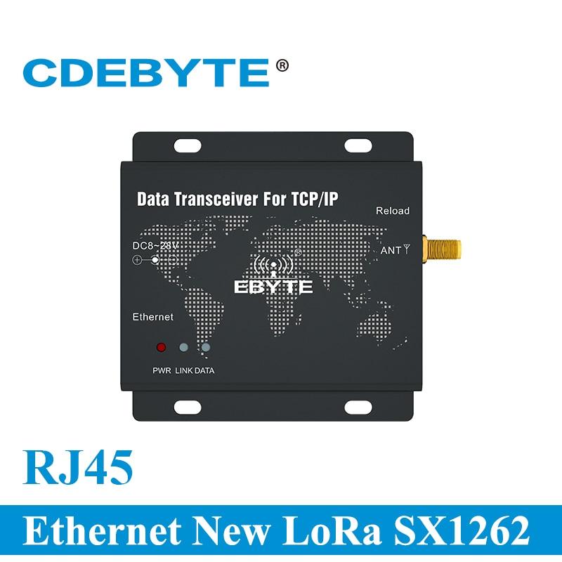 Фото - RJ45 Ethernet New LoRa SX1262 30dBm 1W 915MHz TCP UDP Serial Port Wireless Transceiver Modem E90-DTU(900SL30-ETH) serial port 56k fax modem external modem serial port cat fax cat free driver