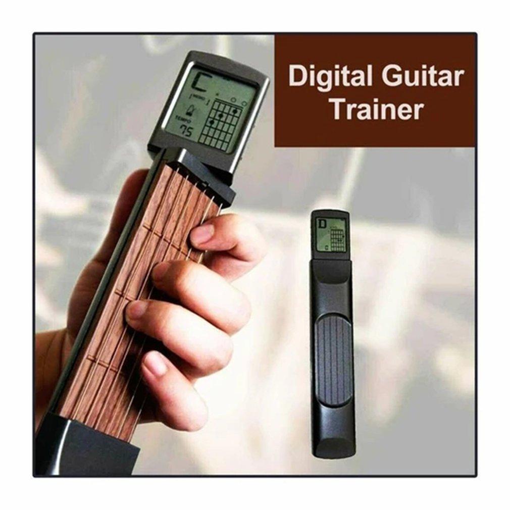Pocket Guitar Chord Trainer Six Grade with Screen Display Beat Climbing Lattice Guitar Accessories P