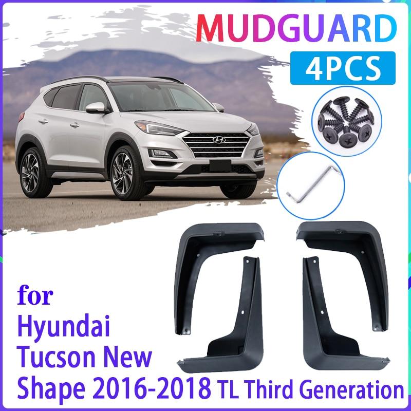 4 pçs flaps de lama do carro para hyundai tucson 3 tl 2016 ~ 2019 2017 2018 guarda lama respingo fender mudflaps acessórios automóveis
