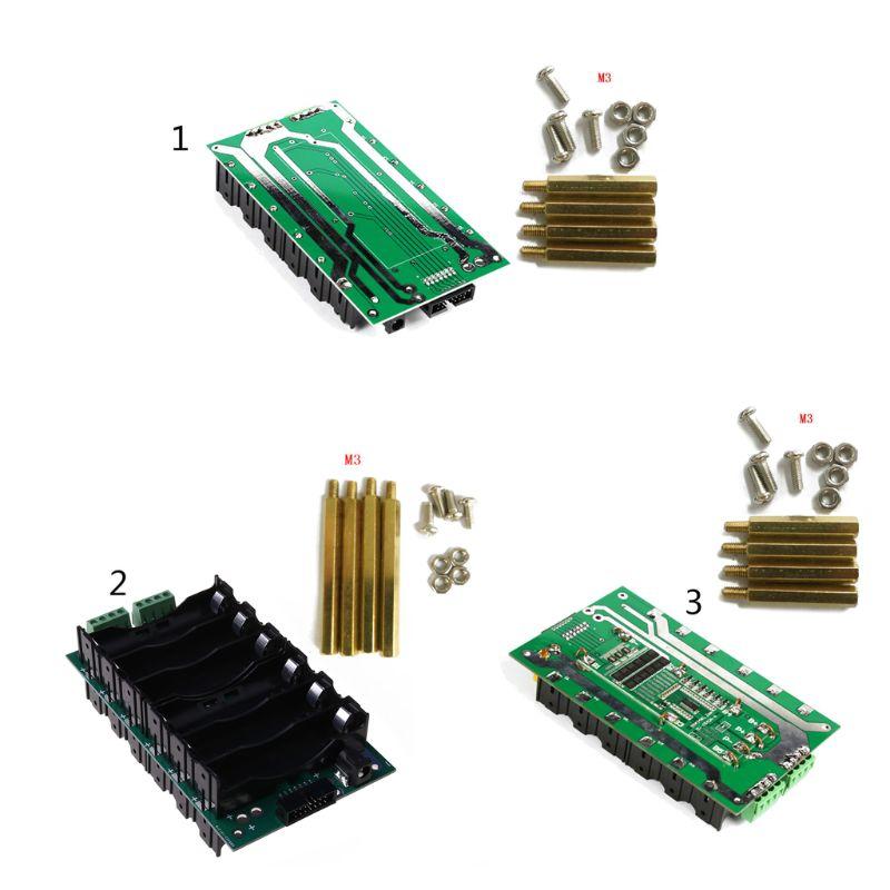 Banco de Potência Power Wall Bateria Titular Case Balancer Bms Pcb Circuitos Placa Proteção Kit Diy 6s 18650
