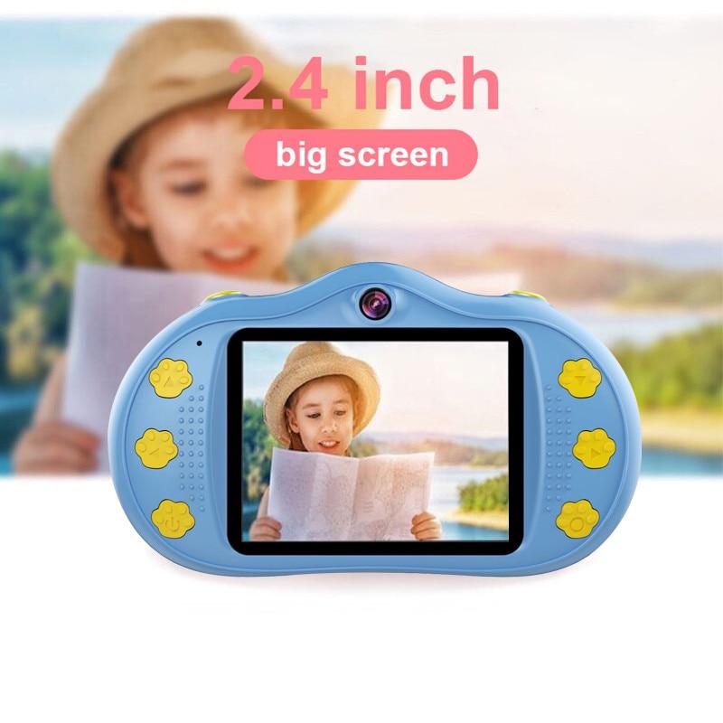 Ребенок 1080P объектив мини-платье для детей кружевное лучший цифровой 18MP Камера Запись видеофильтра с Камера детей IPS 2,4 ''двойной Экран подар...