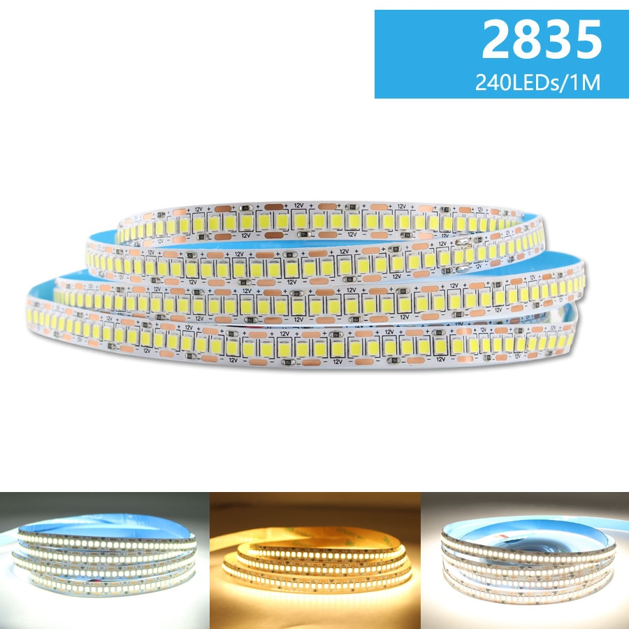 DC 12V Led Strip Light Diode Tape 2835 5M Warm White Nature 300/600/1200 Leds Waterproof Kitchen Home Decor
