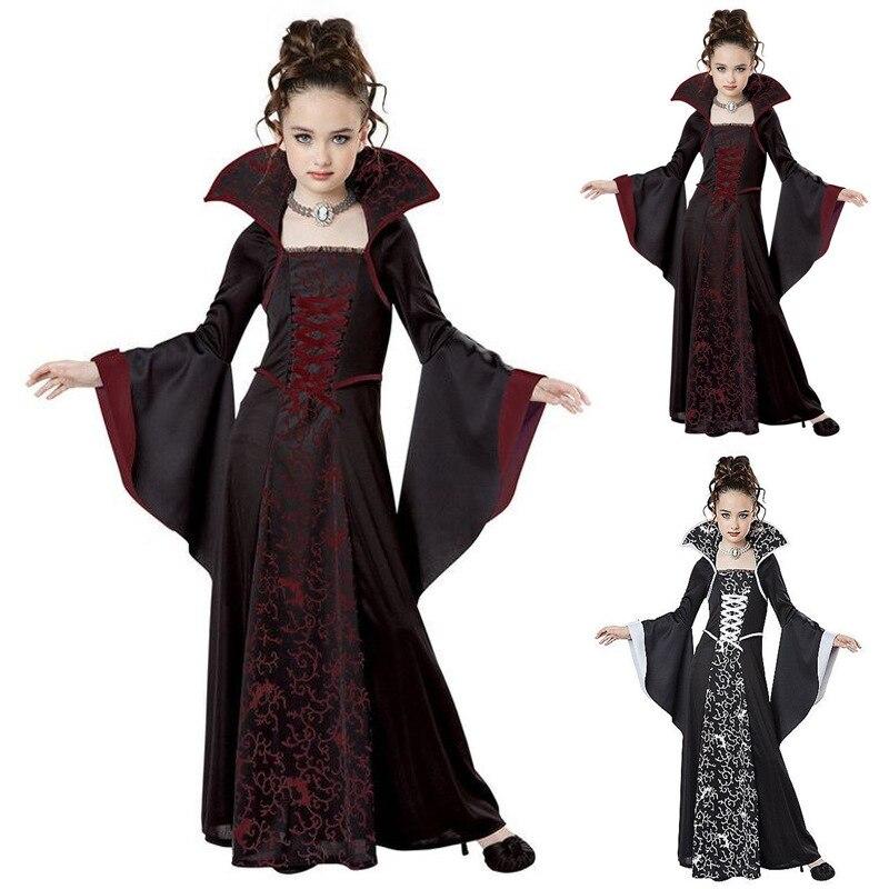 Traje de Halloween para los niños las niñas bruja disfraz de vampiro...