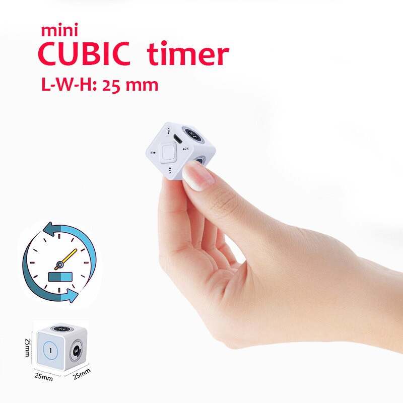 Cubic Timer Mini Timer Стильная коробка Rubik Timer 1-100 минут таймера, USB-аккумулятор и встроенный гироскоп