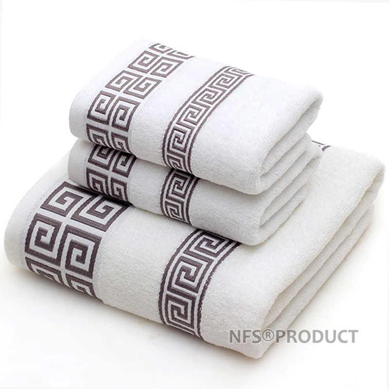 الحمام منشفة مجموعة للكبار 100% القطن منشفة استحمام الوجه هندسية المناشف اليد تيري منشفة ماصة السفر منشفة رياضية