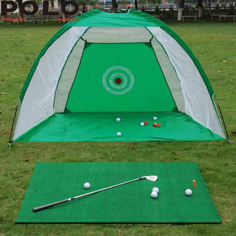 Red de práctica de Golf para interiores, ejercitador de columpio, jaula de Golf de 2 m, almohadilla de entrenamiento, juego de pelota de Golf para interiores, Columpio de red Cag DE LUCHA