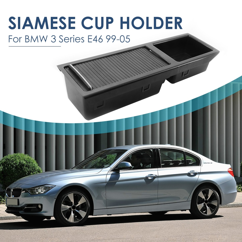 Center Console Storage Compartment Tray Outdoor Personal Car with Sliding Blind Parts Decoration for BMW 3 Series E46 enlarge