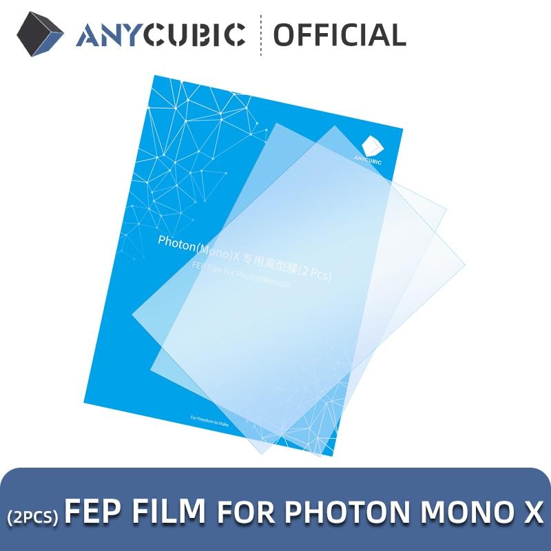 ANYCUBIC 2pcs/Lots FEP Film For Photon Mono X Resin 3D printer 260x175mm FEP Film For 3D Printer