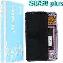 Super AMOLED dorigine pour Samsung Galaxy S8 G950 G950F écran LCD S8 + G955 G955FD écran tactile numériseur pixels morts et cadre