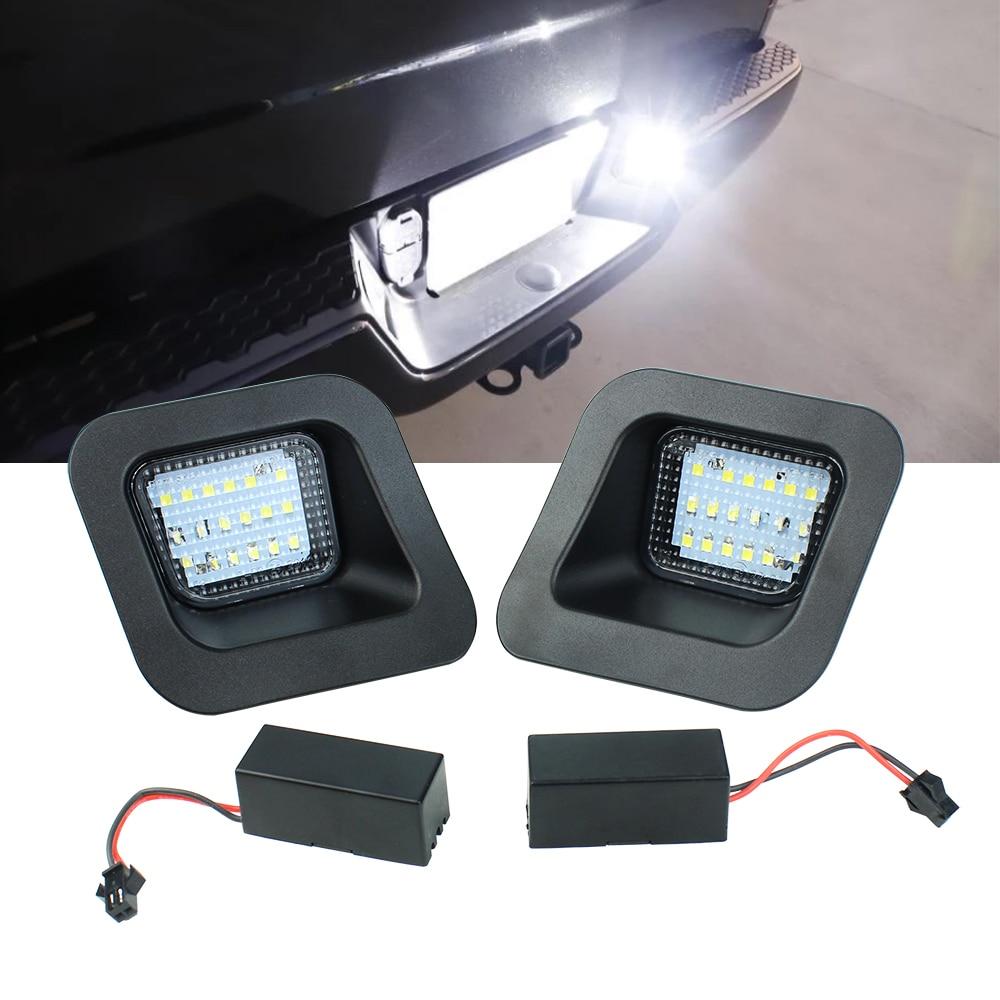 Luz LED de matrícula lámpara Asamblea reemplazo para 2013, 2014, 2015, 2016, 2017, 2018 Dodge RAM 1500 2500 3500 Pickup camión Luz