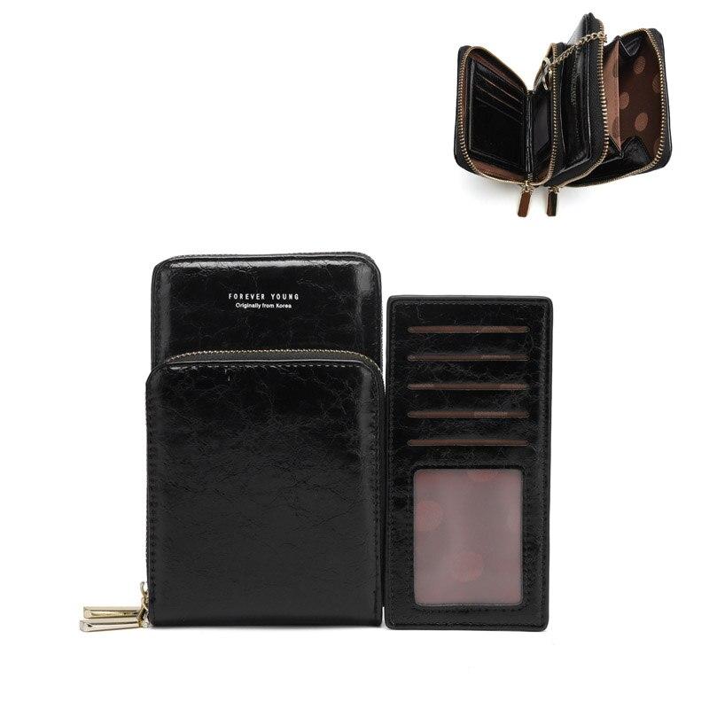 Bolsos cruzados para mujer, Mini bolso de estilo Retro, bolsas para teléfono móvil con ranuras para múltiples tarjetas, cartera pequeña, bolso de hombro Casual para mujer