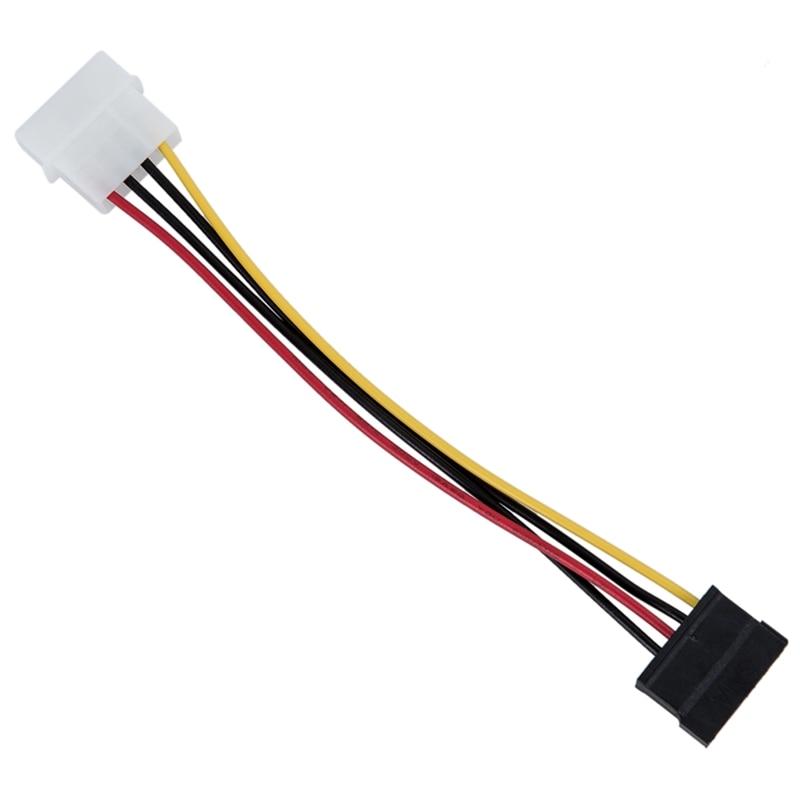 Cable de adaptador de corriente SATA, 6 pulgadas