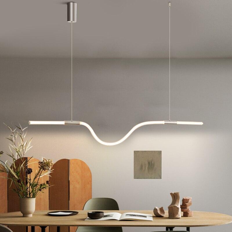 NEO GLeam 360 توهج الحديثة LED الثريا تركيبات الإنارة للمطبخ المعيشة غرفة الطعام الحبل الثريات المنزلية المعلقة