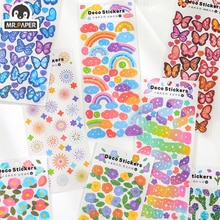 Mr.paper 8 Design 4 Pieces/Batch Butterfly Rainbow Daily Decoration And Paper Diary Sticker Scrapbook Bullet Diary Graffiti