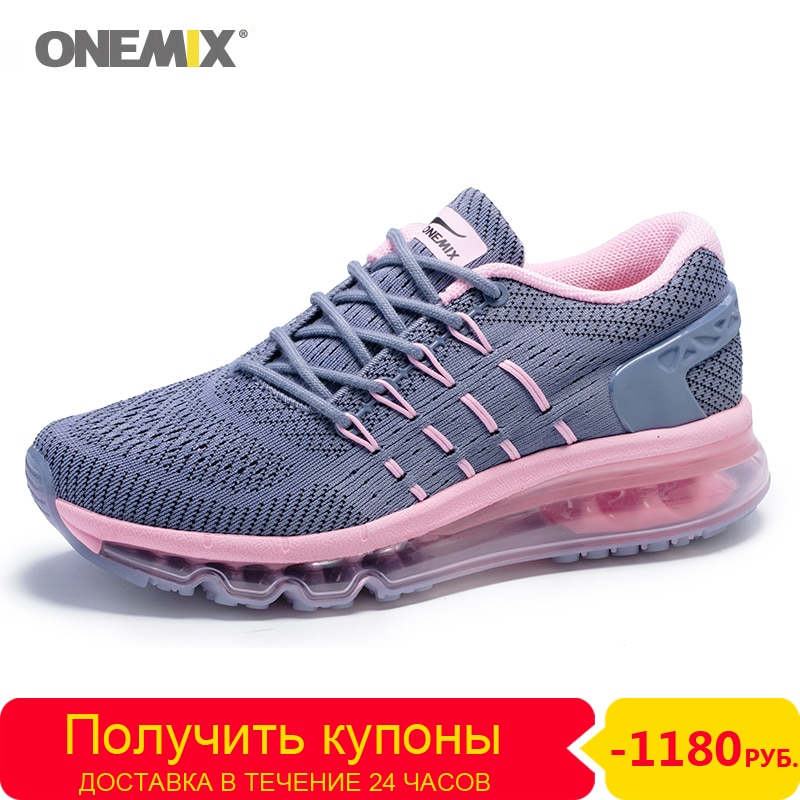 Onemix Women Sneakers air cushion running shoes Brand outdoor female breathable for Woman Comfortable Athletic Training Footwear