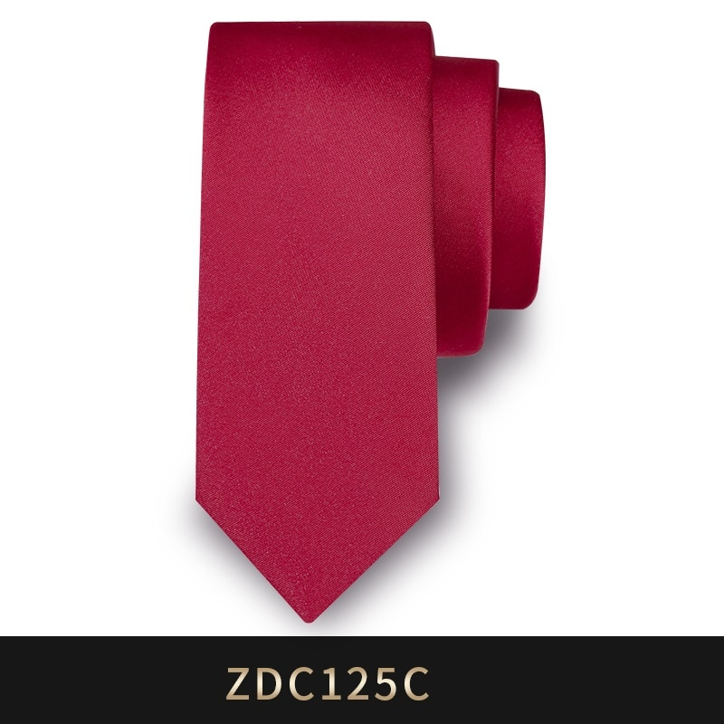 High Quality 2019 New Designers Brands Fashion Business Casual 5cm Slim Ties for Men Necktie Wedding Work with Gift Box Red