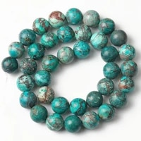 turquoises green natural stone sea sediment jaspers bead round loose spacer beads for jewelry making diy woman bracelet 6810mm