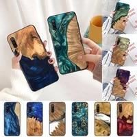 wood resin art original pattern phone case for xiaomi redmi note 4 4x 8t 9 9s 10 k20 k30 cc9 9t pro lite max cover shell funda