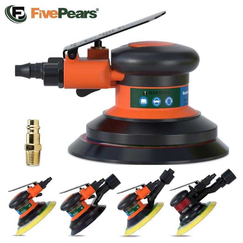 FivePears Pneumatic Orbital Sander Air Grinder,125mm/150mm Vacuum Eccentric Polishing/Grinding Machine Pneumatic Tools