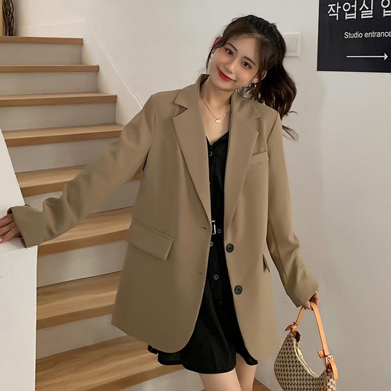 Korean Women's Coat Version Autumn 2021 New High-grade Fried Street Suit Small Man Temperament Leisu