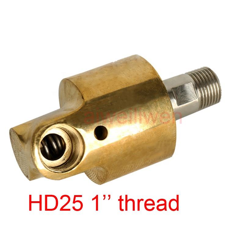 2021 جديد HD25 DN25 1 بوصة الدورية المشتركة 360 دوارة مشتركة المياه الهواء النفط دوارة اقتران رذاذ موصل عالمي النحاس دوران