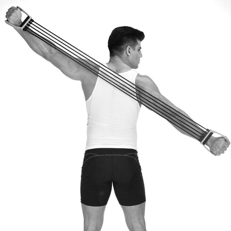Expansor de entrenamiento de fuerza elástica, cuerda de tracción muscular, banda de...