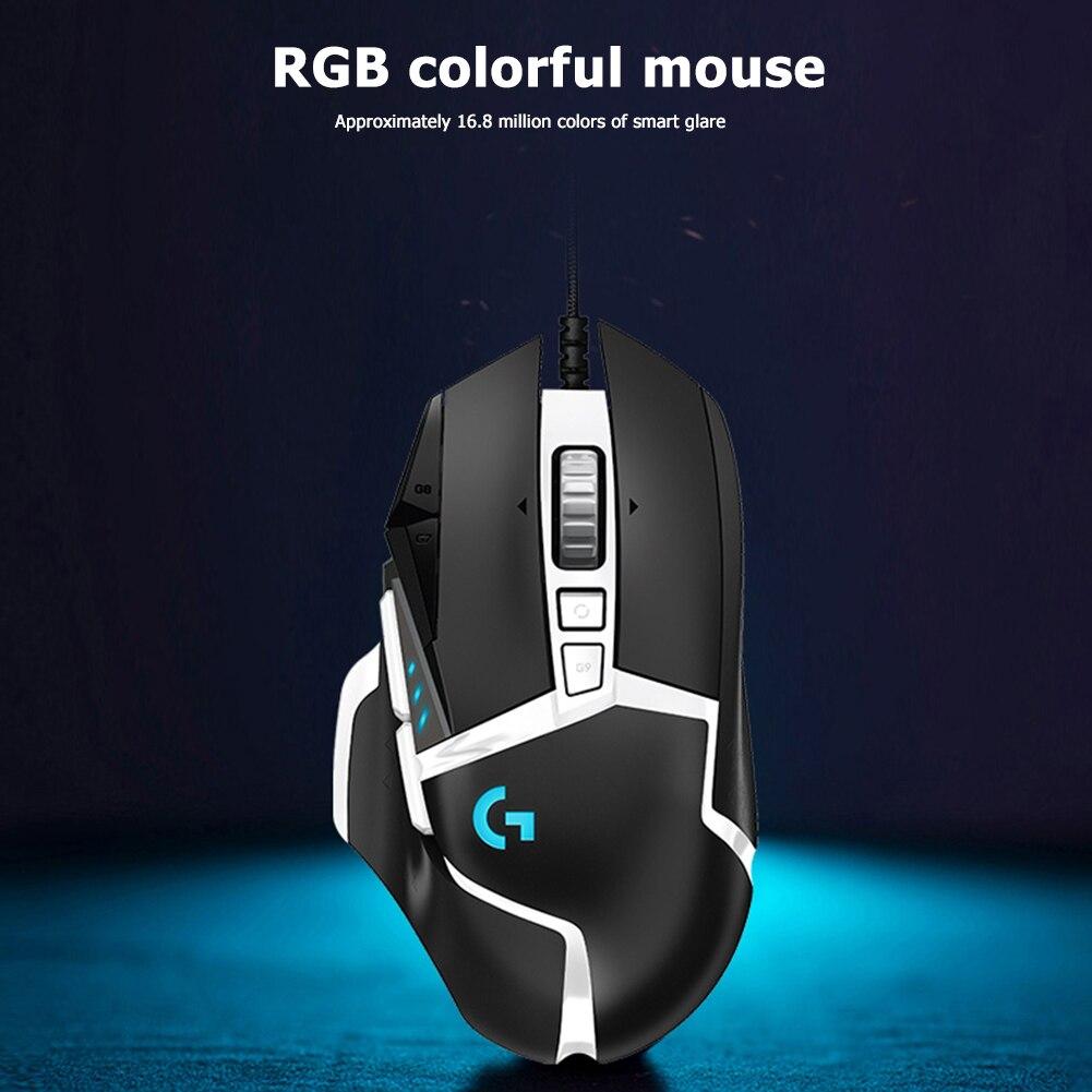 لوجيتك-ماوس G502 قابل للبرمجة ، 16,000 ديسيبل متوحد الخواص ، SE RGB ، مستشعر بصري ، للاستخدام المنزلي ، ملحقات الكمبيوتر