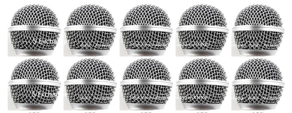 10 قطعة المهنية استبدال الكرة رئيس شبكة ميكروفون مصبغة يناسب ل Shure SM58 SM58S SM58LC