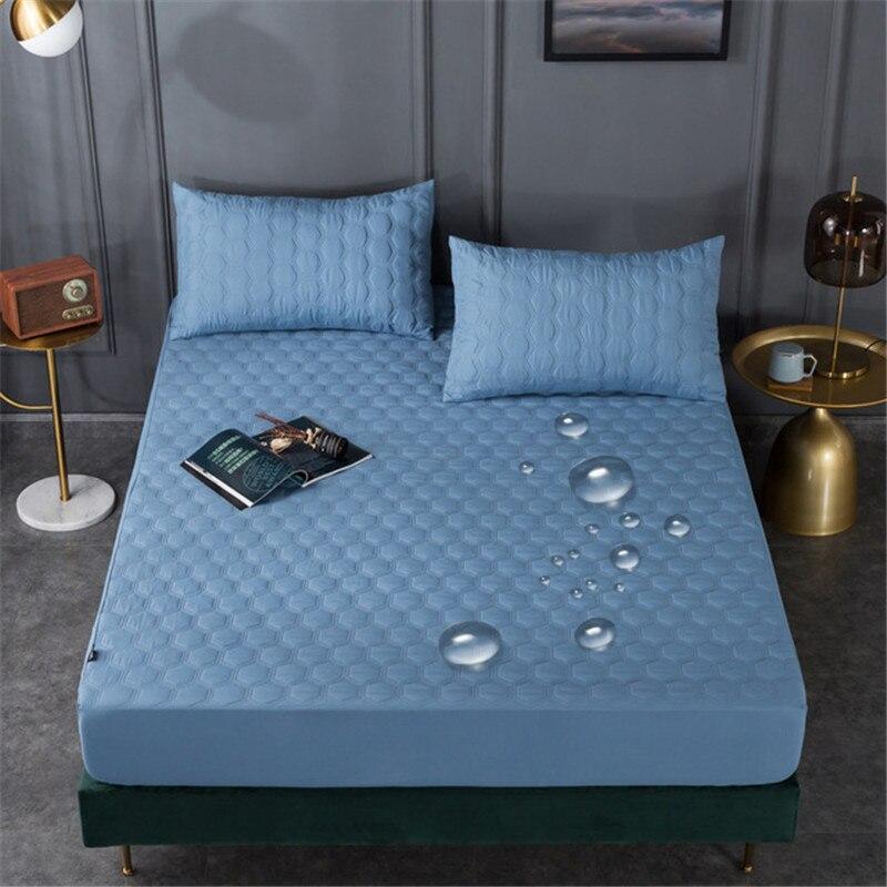 السرير المجهزة ورقة نمط لينة الدفء سميكة مبطن مقاوم للماء شريط مرن غطاء مرتبة حماية غطاء الفراش لغرفة النوم