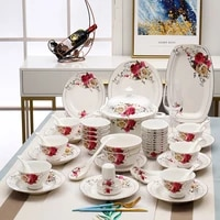 manufacturers selling jingdezhen ceramic tableware rose bone china set dishes