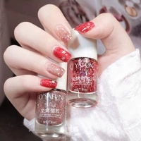 8ml sequins water based gel nail polish free baking tearable varnish non toxic translucent jelly manicure lacquer nail supplies