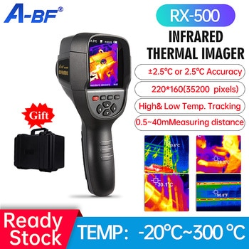 A-BF RX-500 Infrared Thermal Imager Handheld Floor Wall Heating Pipe Electronic Detection HD Thermography Thermal Imaging Camera
