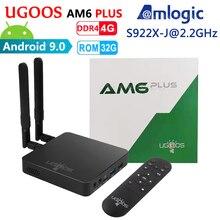 UGOOS AM6 Plus Amlogic Smart Android 9.0 TV Box DDR4 4GB RAM 32GB ROM 2.4G 5G WiFi 1000M LAN Bluetooth 4K préfixe lecteur multimédia HD