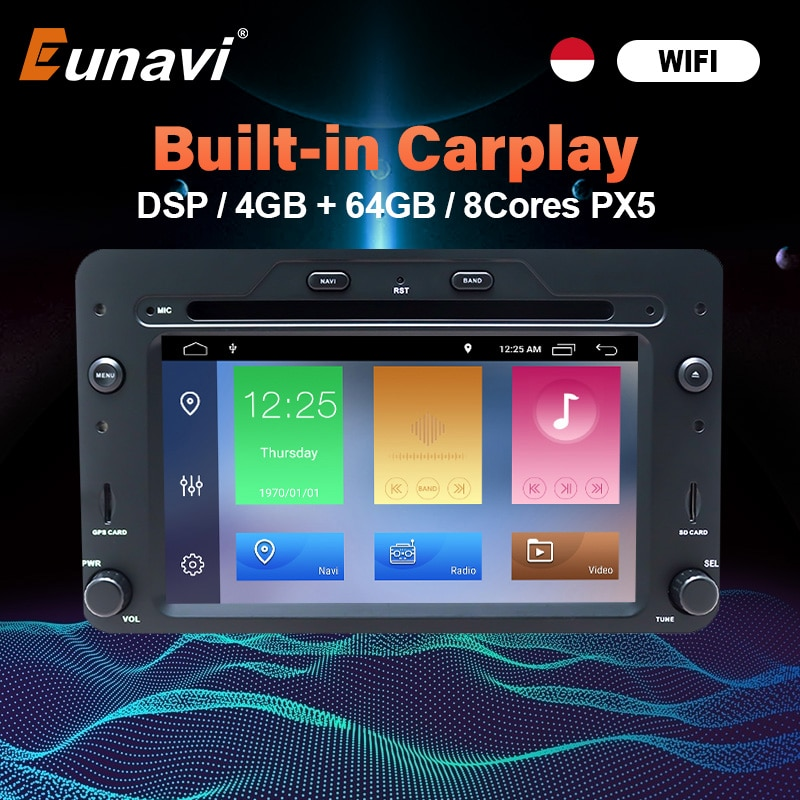 Eunavi Android 10 автомобильный Радио мультимедийный аудио плеер для Alfa Romeo Spider Alfa Romeo 159 Brera 159 Sportwagon Авто DVD GPS Navi