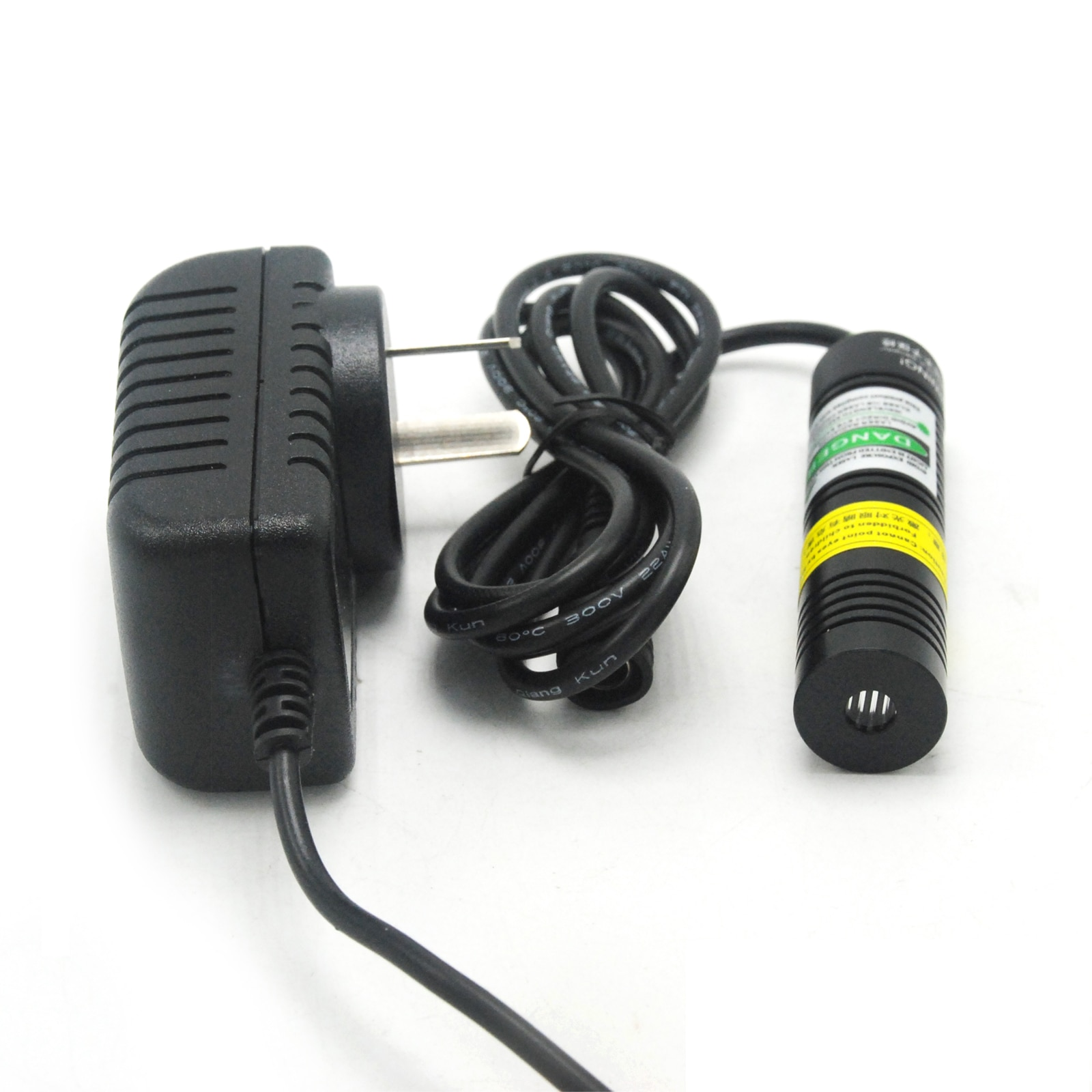 Зеленый лазер диод модуль точка +% 2F линия форма 532 нм 50 мВт 3-5 В 18x75 мм с адаптером переменного тока +