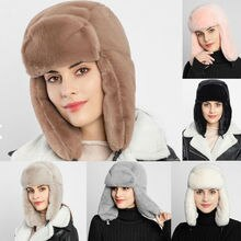 Women Men Winter Outdoor Warm Fluffy Fleece Hat Faux Fur Earflap Ski Cap Thick Bomber Hats Keep Warm And Keep Warm!