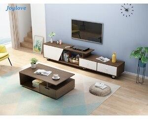 JOYLOVE Nordic TV Cabinet Coffee Table Combination Modern Minimalist Living Room Bedroom Small Floor Cabinet New Chinese Simple