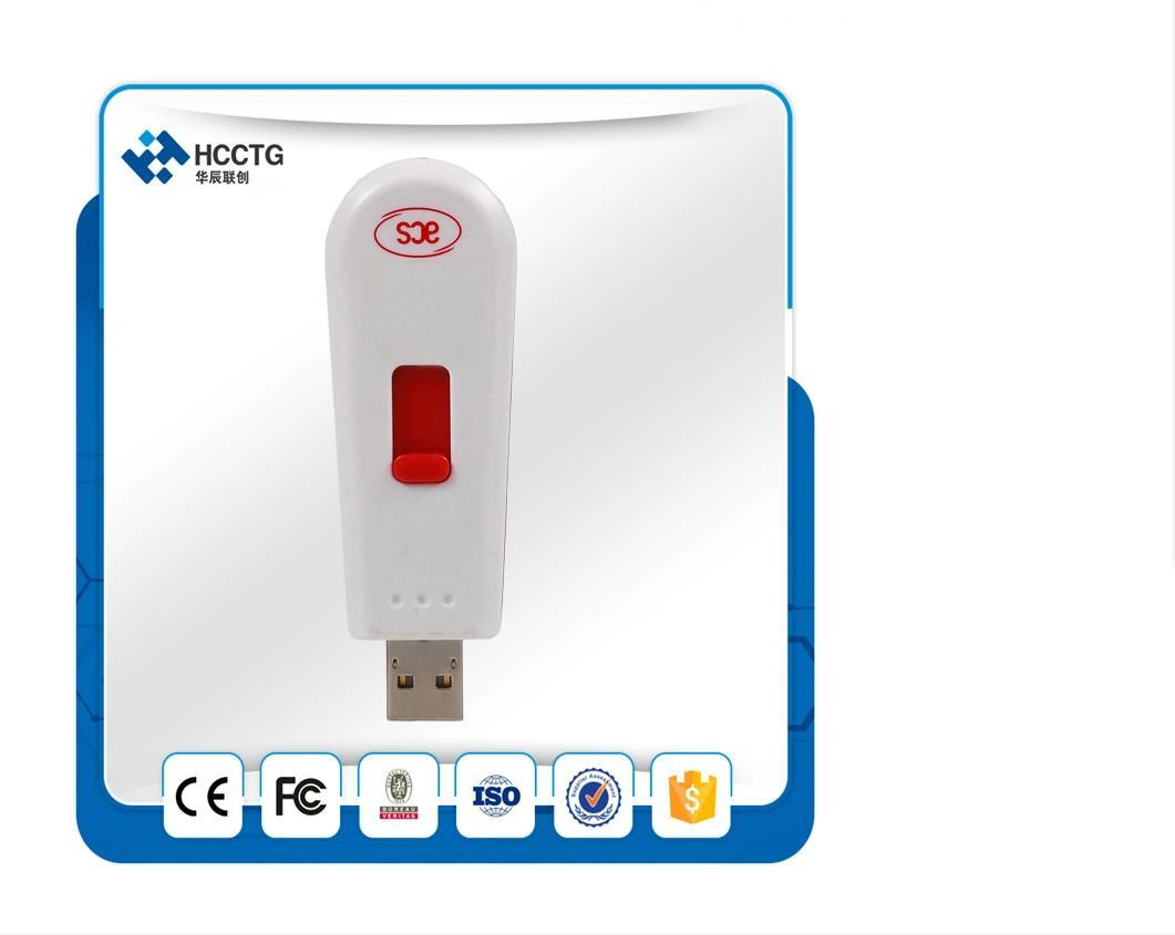 حار بيع 13.56 MHz Ccid القياسية USB رمز NFC قارئ بطاقات ذكية بدون اتصال (ACR122T)