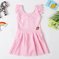 2020 new baby girl swimsuit girl age 2 8 years children one piece swimwear pretty skirt dress classic bathing suit