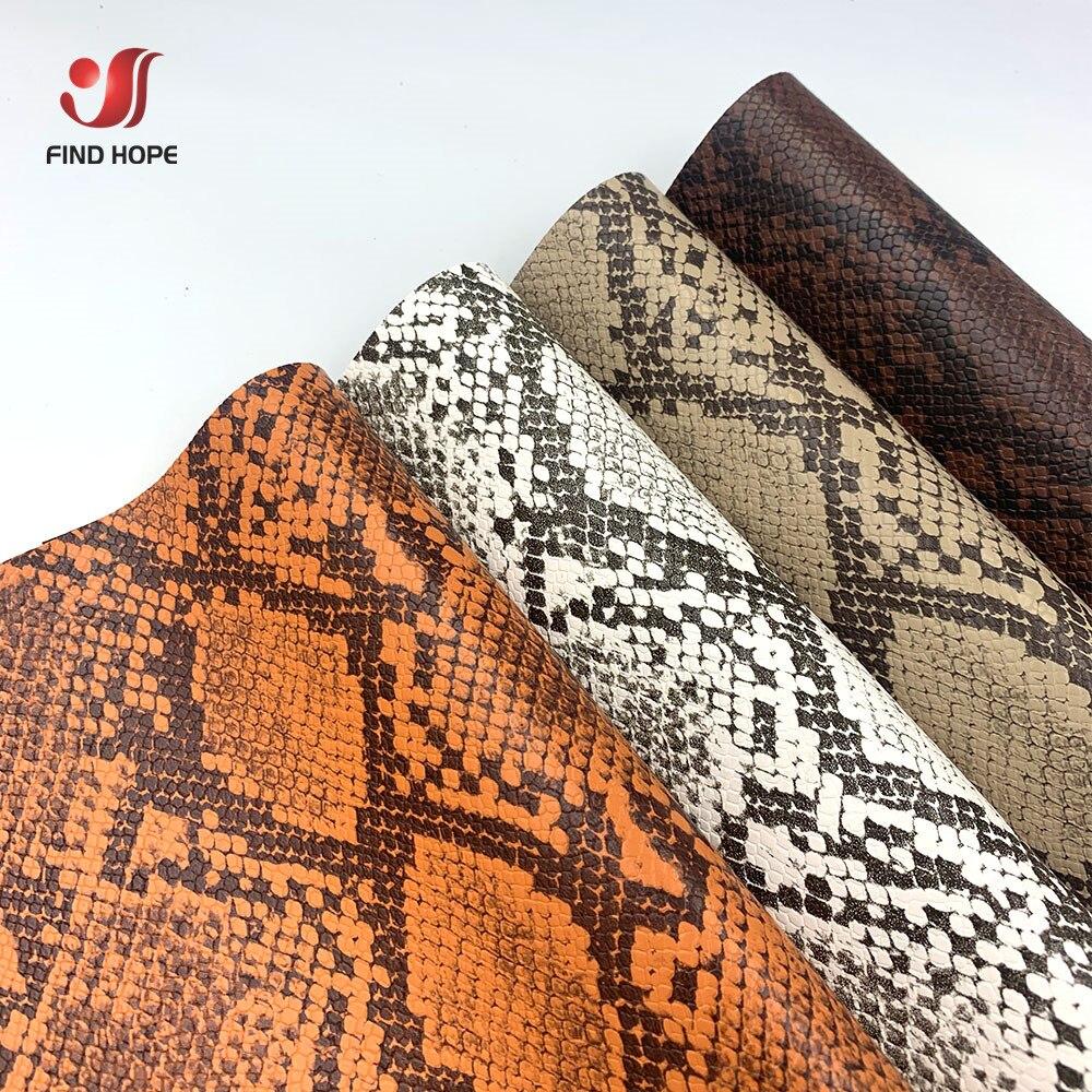 Hojas A4 20*30cm diseño de piel de serpiente imitación PU Tela de cuero vinilo para coser bolsa sofá pendiente costura bricolaje artesanía arco
