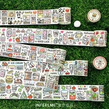Kawaii Snack Station-service série ruban adhésif décoratif Washi ruban bricolage Scrapbooking ruban de masquage école mignon papeterie cadeau