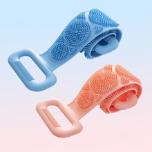 New Magic Silicone Brushes Bath Towels Body Brush Bath Belt Exfoliating Back Brush Belt Wash Skin Ho