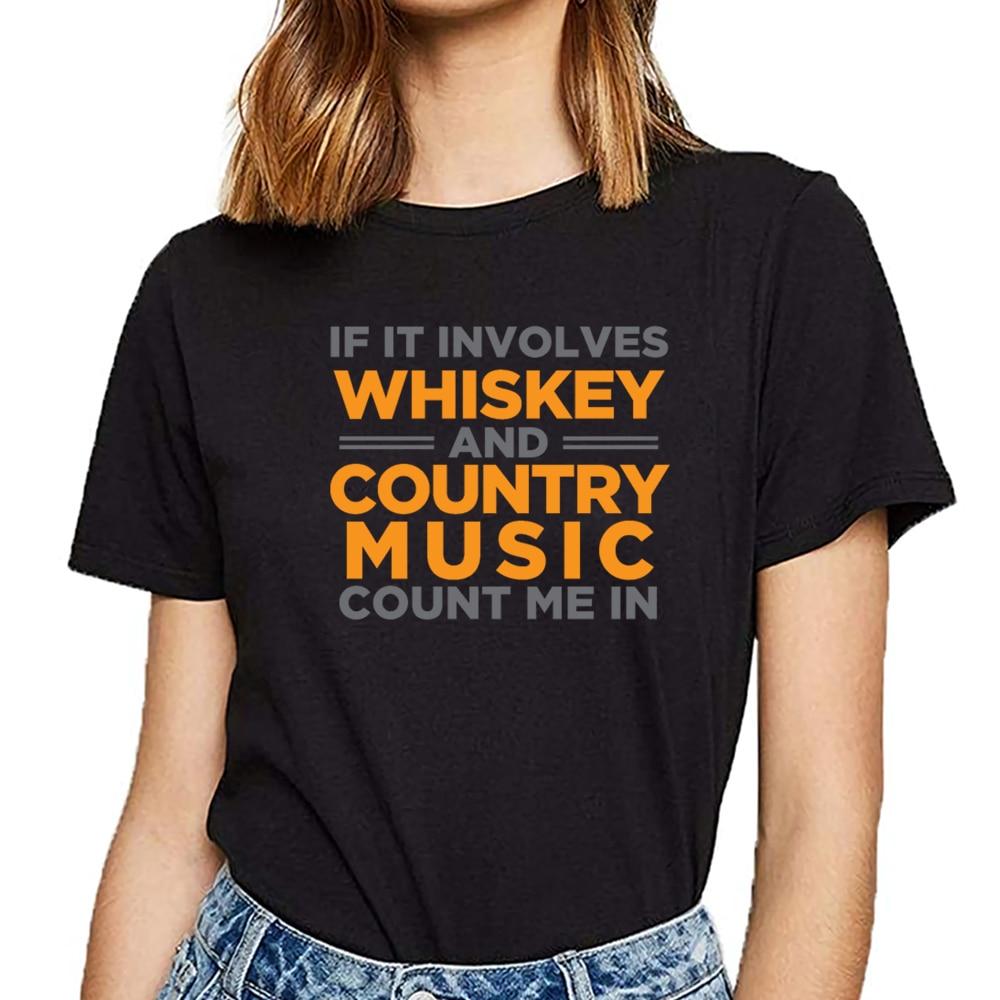 Camisetas para mujer 90s, música campestre, danza texas, cowboy, whisky, camiseta Sexy Harajuku personalizada para mujer