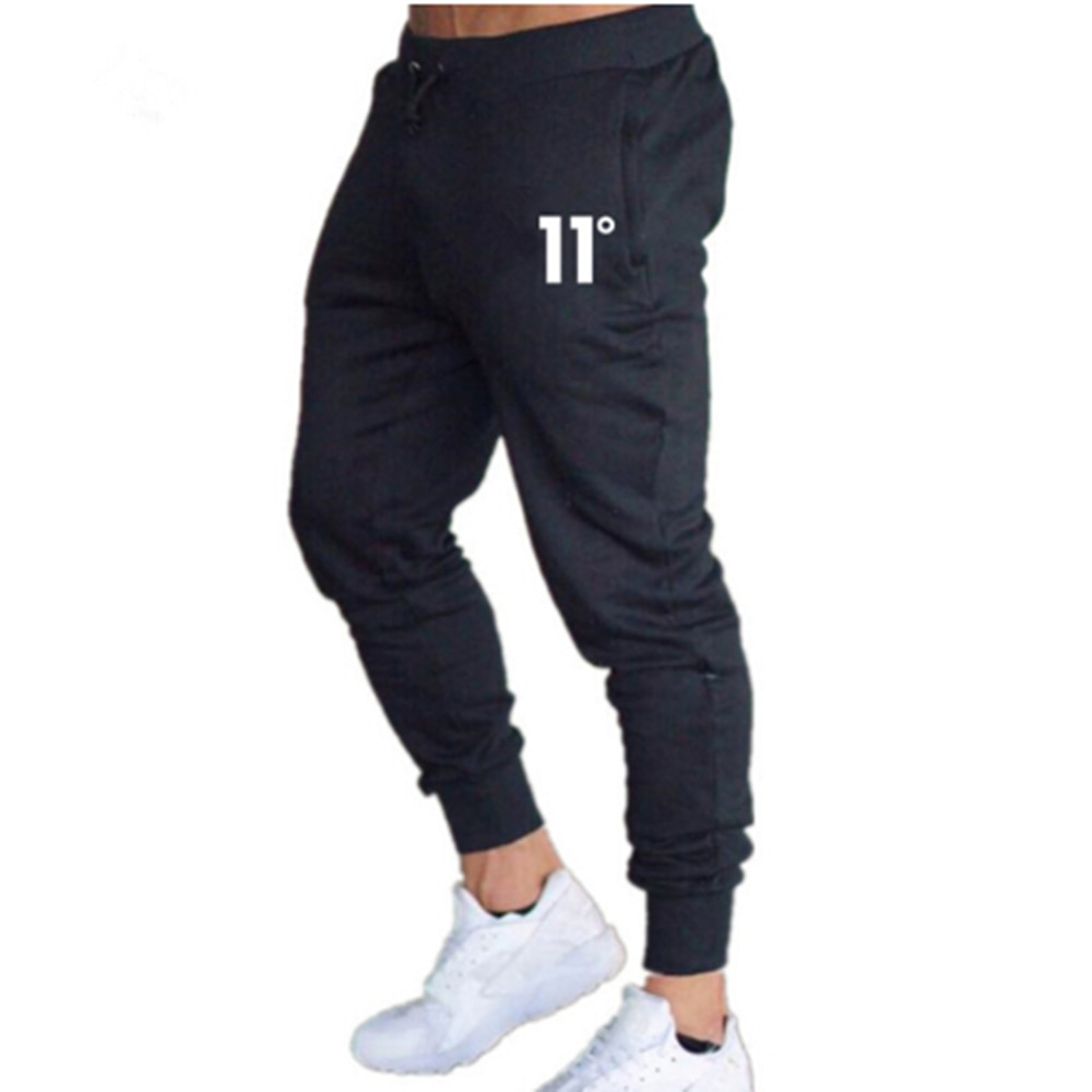 Spring Summer And Autumn Men's Cotton Sports Tracksuit Slim Fit Solid Casual Gym Jogging Pants Sweat