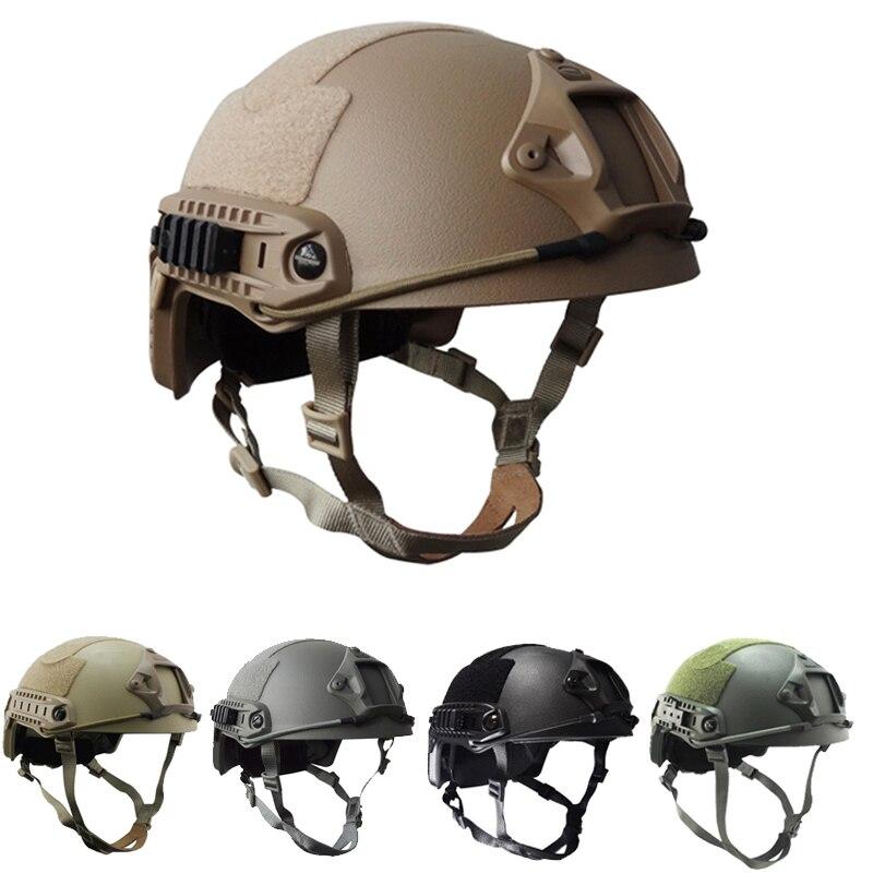 Tactical Bulletproof Helmet Military Hunting NIJ IIIA FAST High Cut Aramid Ballistic Helmet Multicam War Military Accessories
