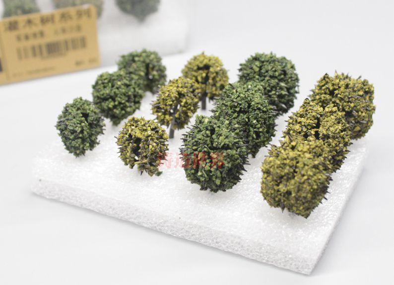 Escena de simulación militar tren arbusto construcción de ferrocarril arena Mesa paisaje con árbol modelo diy material caja conjunto 12 árbol/set